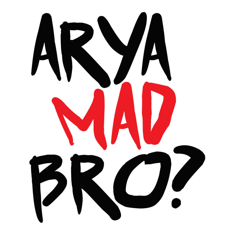 Game of Thrones Arya Mad Bro? Stark Graffiti Men's Sweatshirt by Hilarious Delusions - Cloud City 7