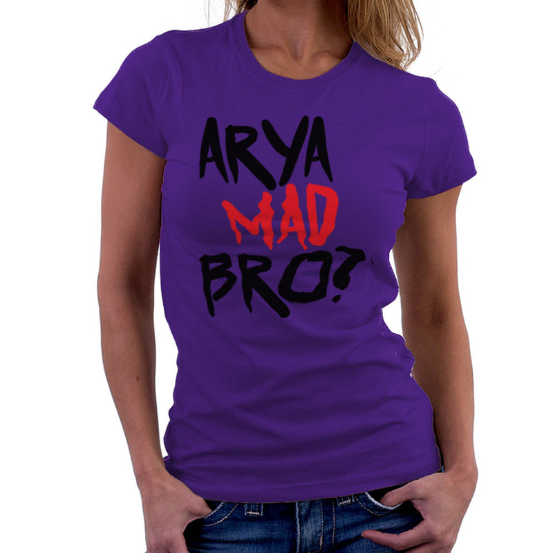 Game of Thrones Arya Mad Bro? Stark Graffiti Women's T-Shirt by Hilarious Delusions - Cloud City 7