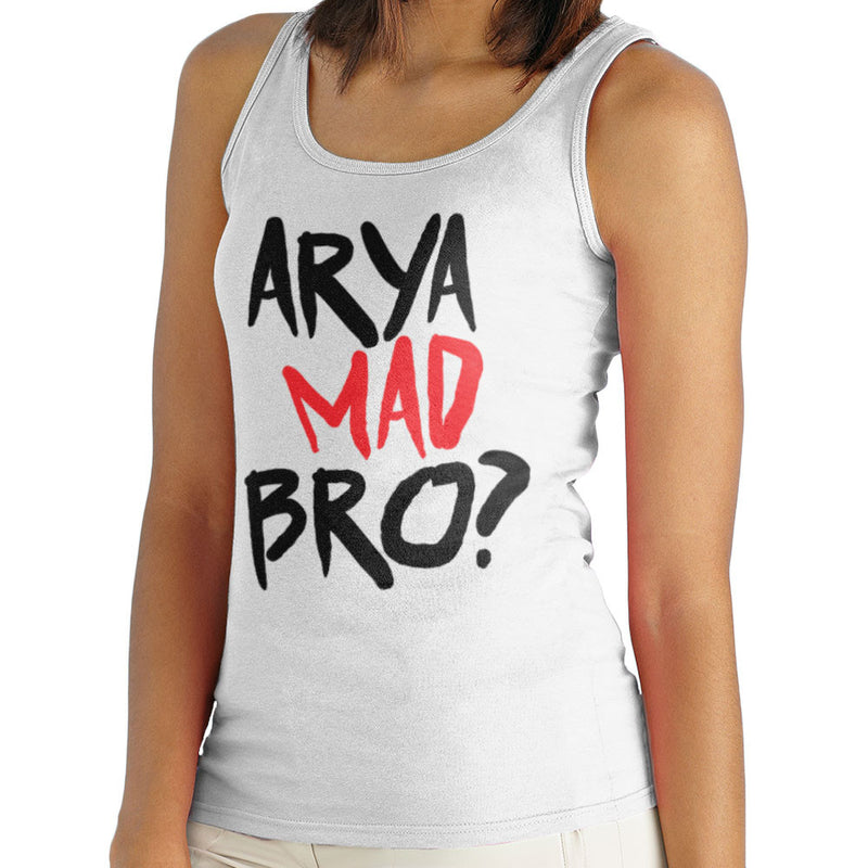 Game of Thrones Arya Mad Bro? Stark Graffiti Women's Vest by Hilarious Delusions - Cloud City 7