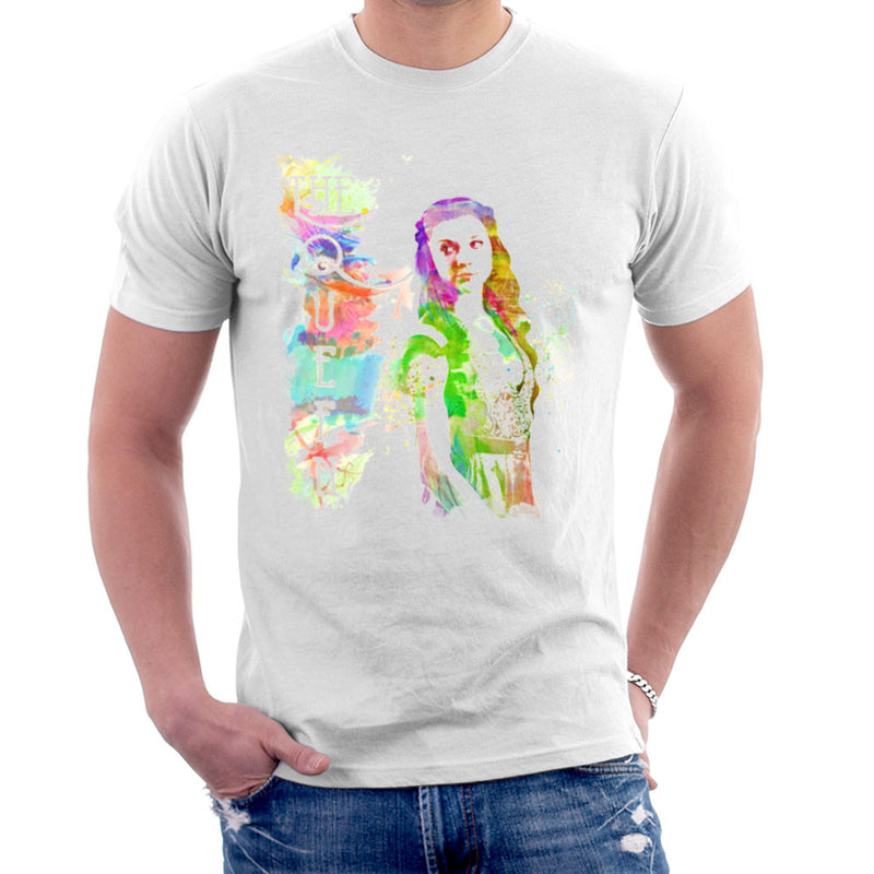 Game of Thrones Margaery Tyrell on Splatter the Queen Men's T-Shirt Men's T-Shirt Cloud City 7 - 1
