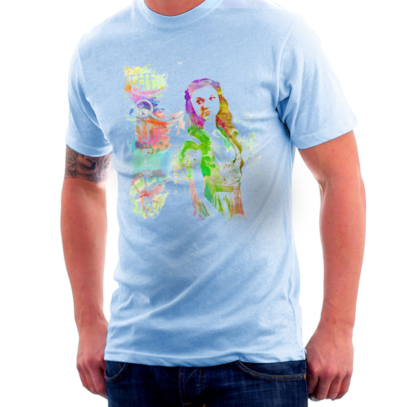 Game of Thrones Margaery Tyrell on Splatter the Queen Men's T-Shirt Men's T-Shirt Cloud City 7 - 11