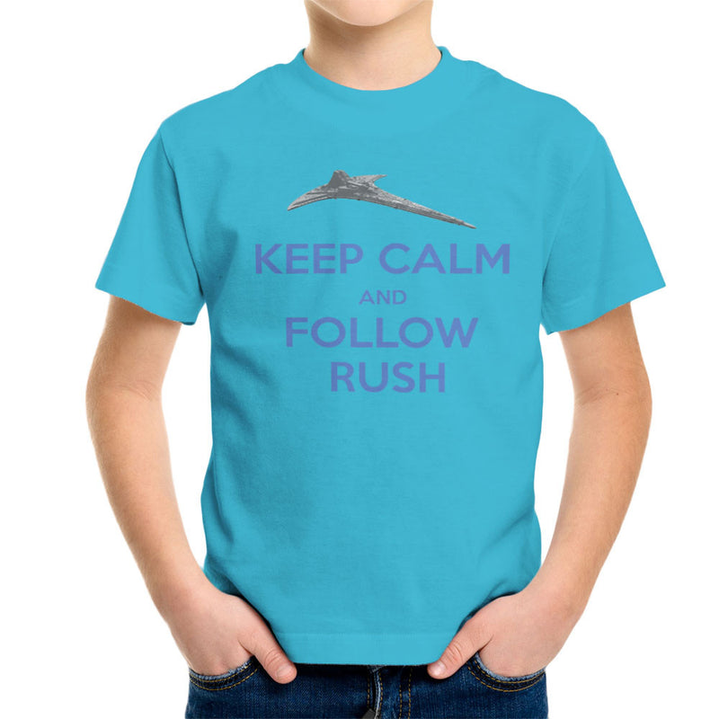 Stargate Universe Keep Calm and Follow Rush Destiny Kid's T-Shirt by Hilarious Delusions - Cloud City 7