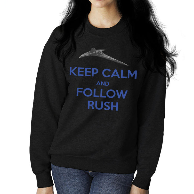 Stargate Universe Keep Calm and Follow Rush Destiny Women's Sweatshirt by Hilarious Delusions - Cloud City 7