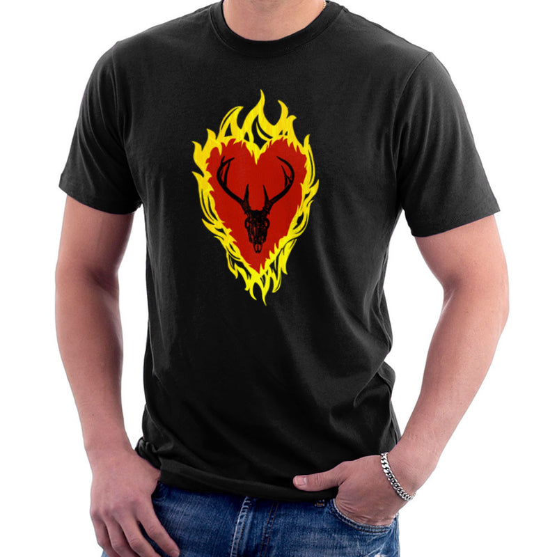 Game of Thrones Stannis Baratheon Sigil Stagg in a Heart of Flames Men's T-Shirt by Hilarious Delusions - Cloud City 7