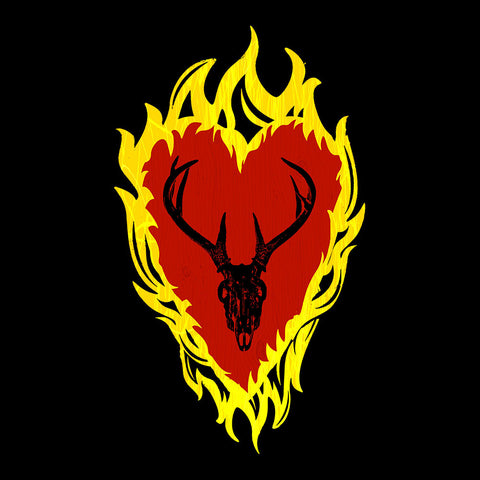 Game of Thrones Stannis Baratheon Sigil Stagg in a Heart of Flames