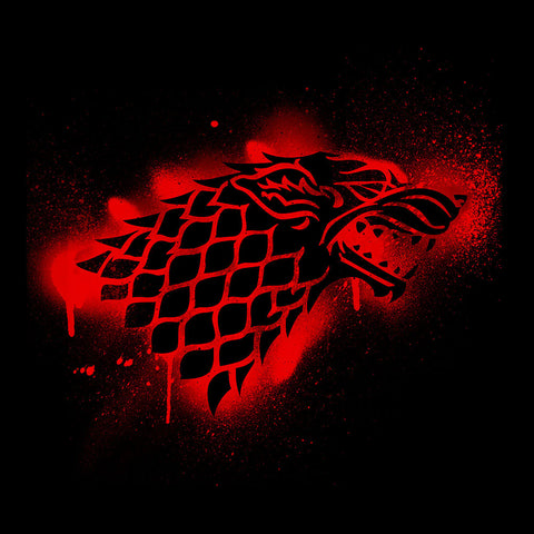 Game of Thrones Stark Sigil Dire Wolf Winterfell Spray Paint red