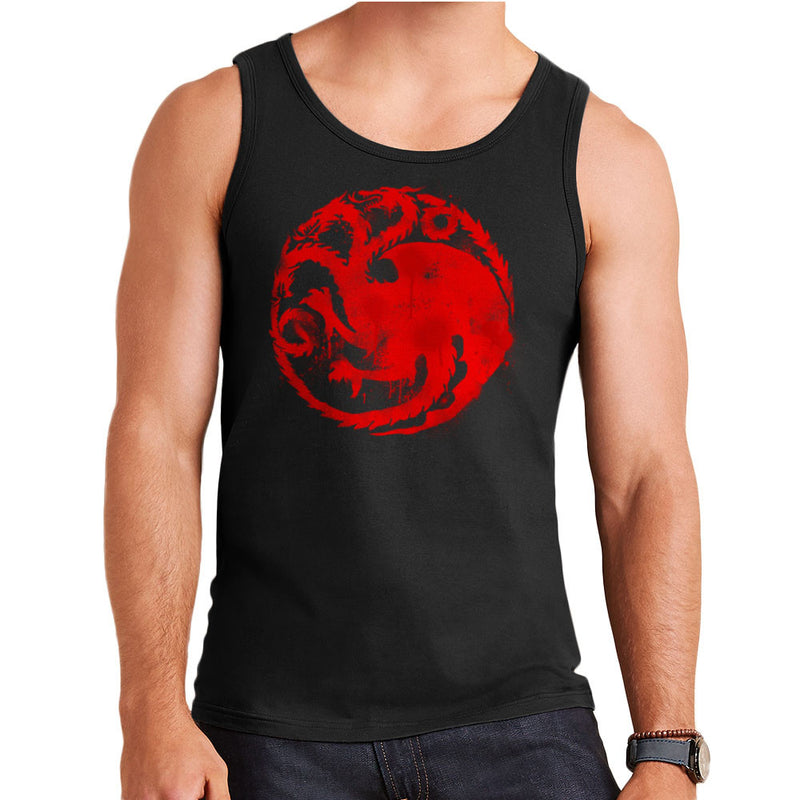 Game of Thrones Targaryen Sigil Three Headed Dragon Spray Men's Vest by Hilarious Delusions - Cloud City 7