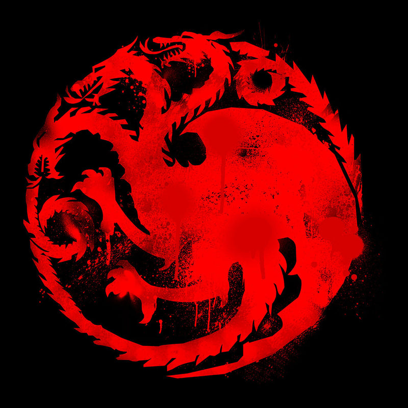 Game of Thrones Targaryen Sigil Three Headed Dragon Spray Women's T-Shirt by Hilarious Delusions - Cloud City 7
