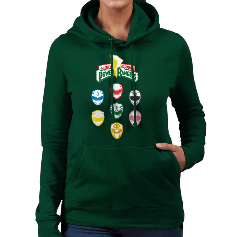 Mighty Morphin Power Rangers Original Women's Hooded Sweatshirt Women's Hooded Sweatshirt Cloud City 7 - 13
