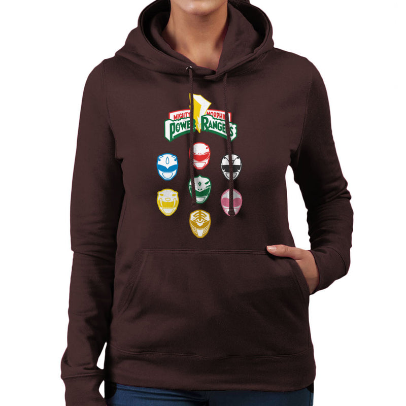 Mighty Morphin Power Rangers Original Women's Hooded Sweatshirt Women's Hooded Sweatshirt Cloud City 7 - 12