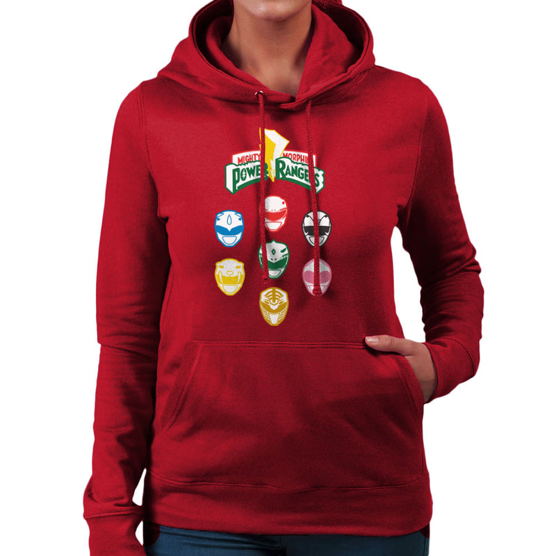 Mighty Morphin Power Rangers Original Women's Hooded Sweatshirt Women's Hooded Sweatshirt Cloud City 7 - 15