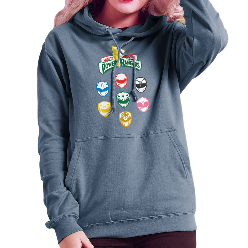 Mighty Morphin Power Rangers Original Women's Hooded Sweatshirt by Goodmorningnight - Cloud City 7