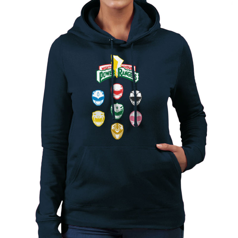 Mighty Morphin Power Rangers Original Women's Hooded Sweatshirt Women's Hooded Sweatshirt Cloud City 7 - 7