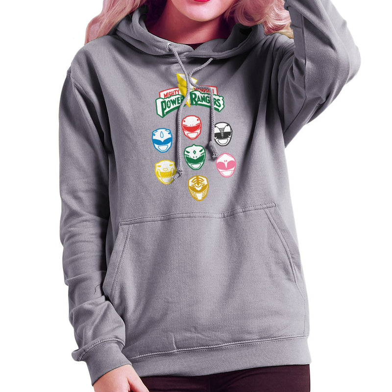 Mighty Morphin Power Rangers Original Women's Hooded Sweatshirt Women's Hooded Sweatshirt Cloud City 7 - 1