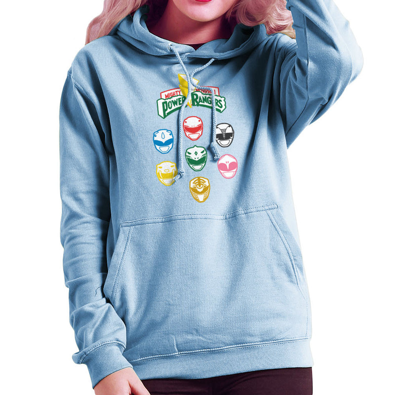 Mighty Morphin Power Rangers Original Women's Hooded Sweatshirt Women's Hooded Sweatshirt Cloud City 7 - 11