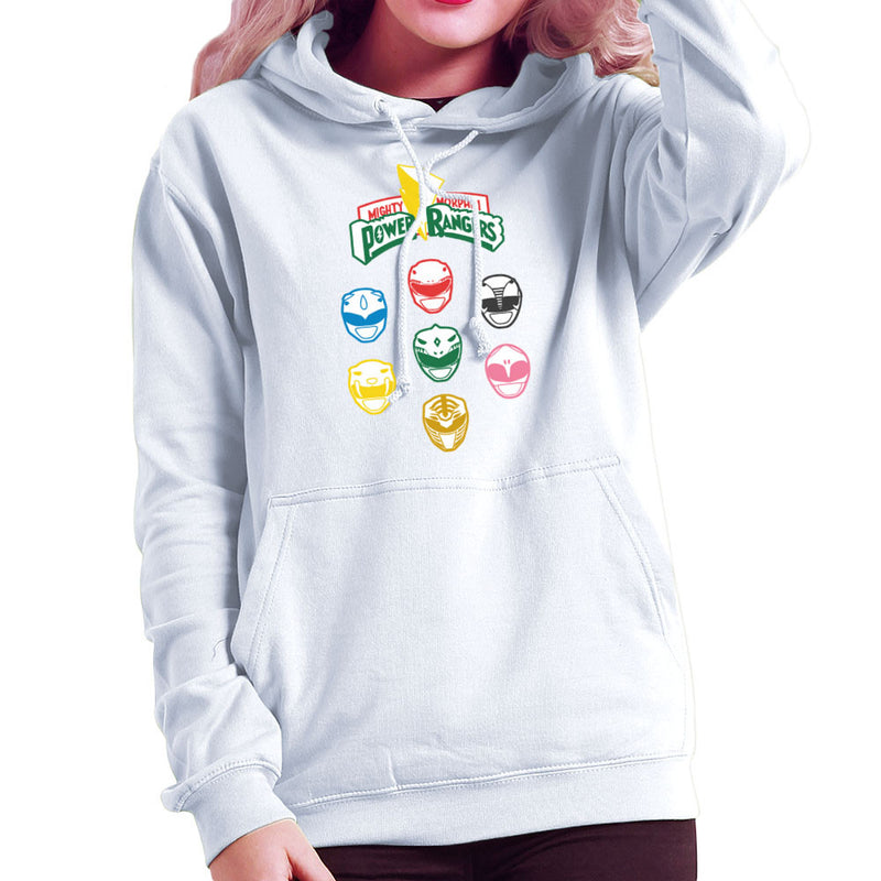 Mighty Morphin Power Rangers Original Women's Hooded Sweatshirt Women's Hooded Sweatshirt Cloud City 7 - 6