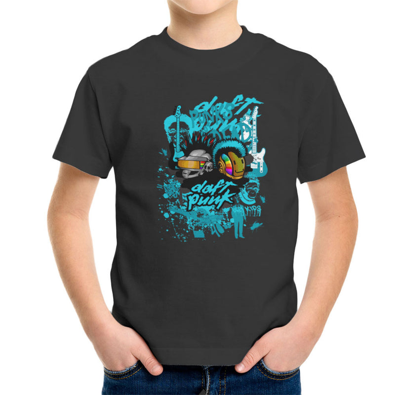 Daft Punk Punks Not Dead Graffiti Kid's T-Shirt by Goodmorningnight - Cloud City 7