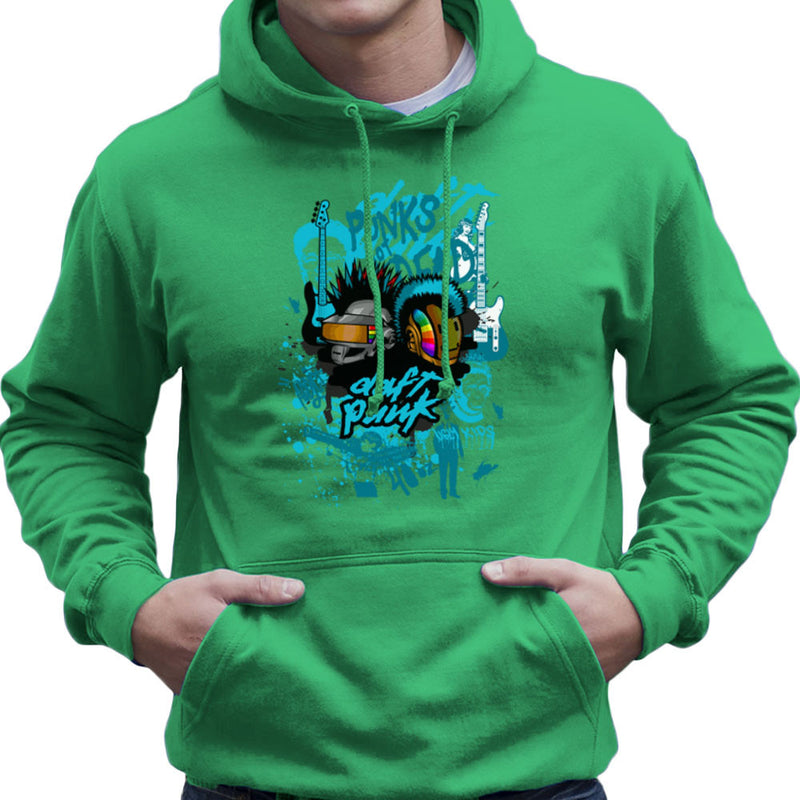 Daft Punk Punks Not Dead Graffiti Men's Hooded Sweatshirt by Goodmorningnight - Cloud City 7