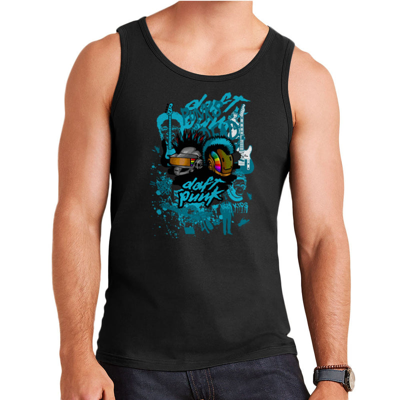 Daft Punk Punks Not Dead Graffiti  Men's Vest Men's Vest Cloud City 7 - 2