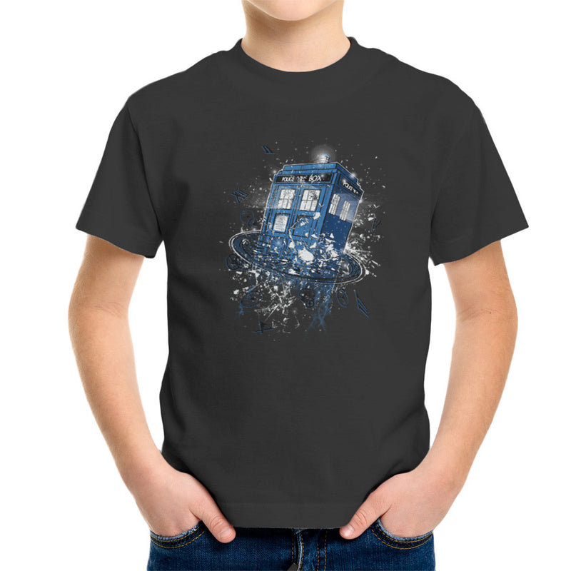 Doctor Who Tardis Breaking the Time Kid's T-Shirt by RicoMambo - Cloud City 7