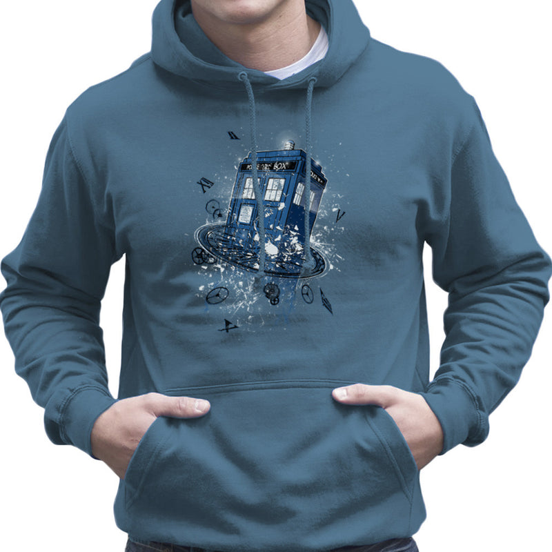 Doctor Who Tardis Breaking the Time Men's Hooded Sweatshirt by RicoMambo - Cloud City 7