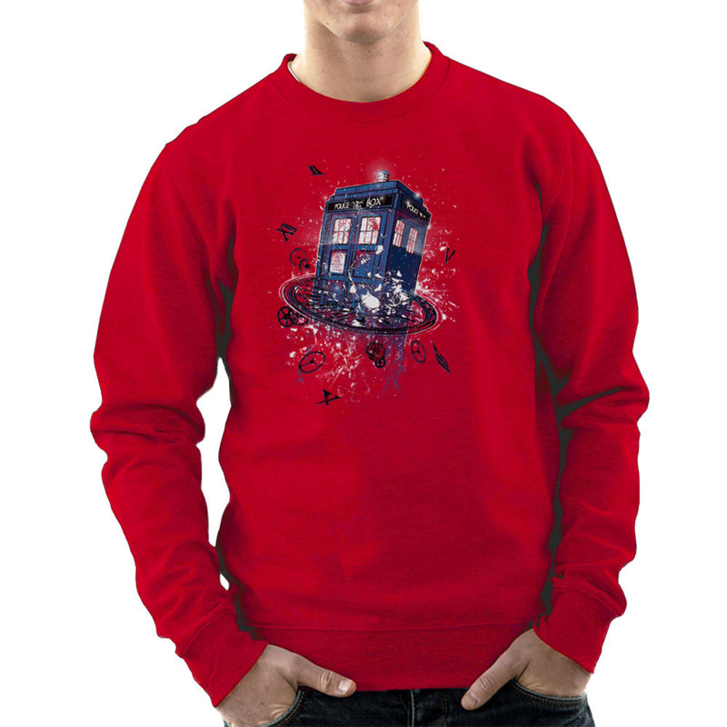 Doctor Who Tardis Breaking the Time Men's Sweatshirt by RicoMambo - Cloud City 7