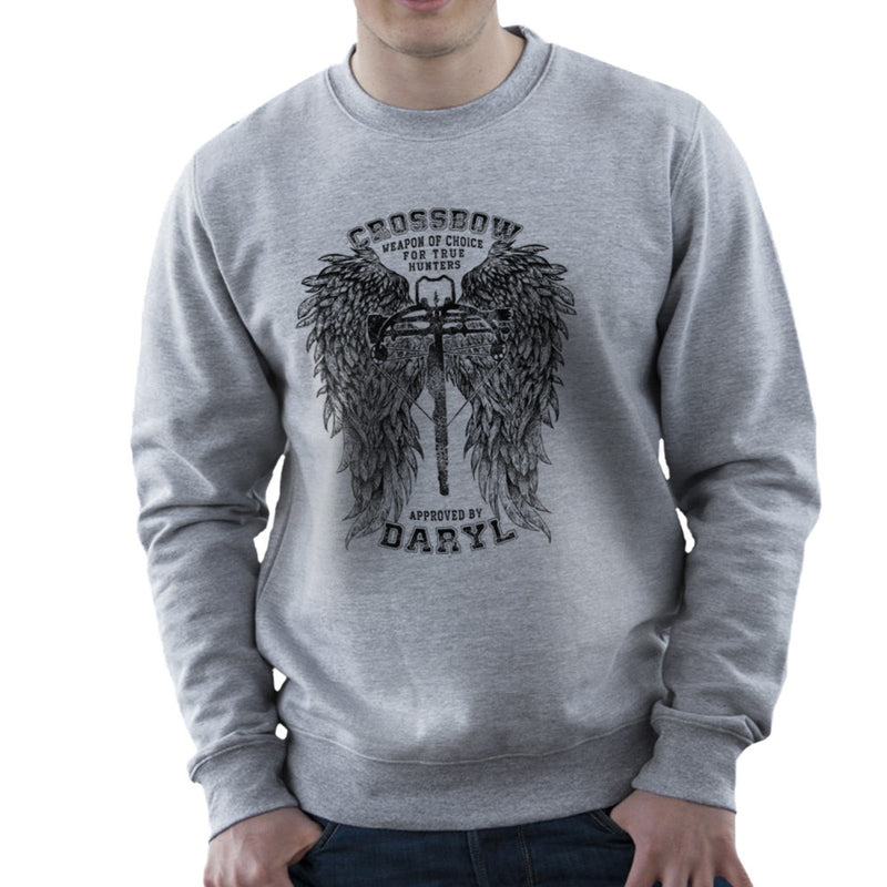 The Walking Dead Crossbow Approved by Daryl Men's Sweatshirt by RicoMambo - Cloud City 7