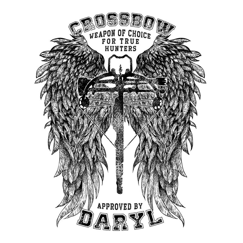 The Walking Dead Crossbow Approved by Daryl Women's Hooded Sweatshirt Women's Hooded Sweatshirt Cloud City 7 - 3
