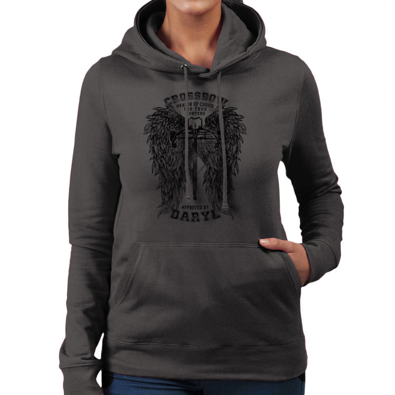 The Walking Dead Crossbow Approved by Daryl Women's Hooded Sweatshirt Women's Hooded Sweatshirt Cloud City 7 - 4