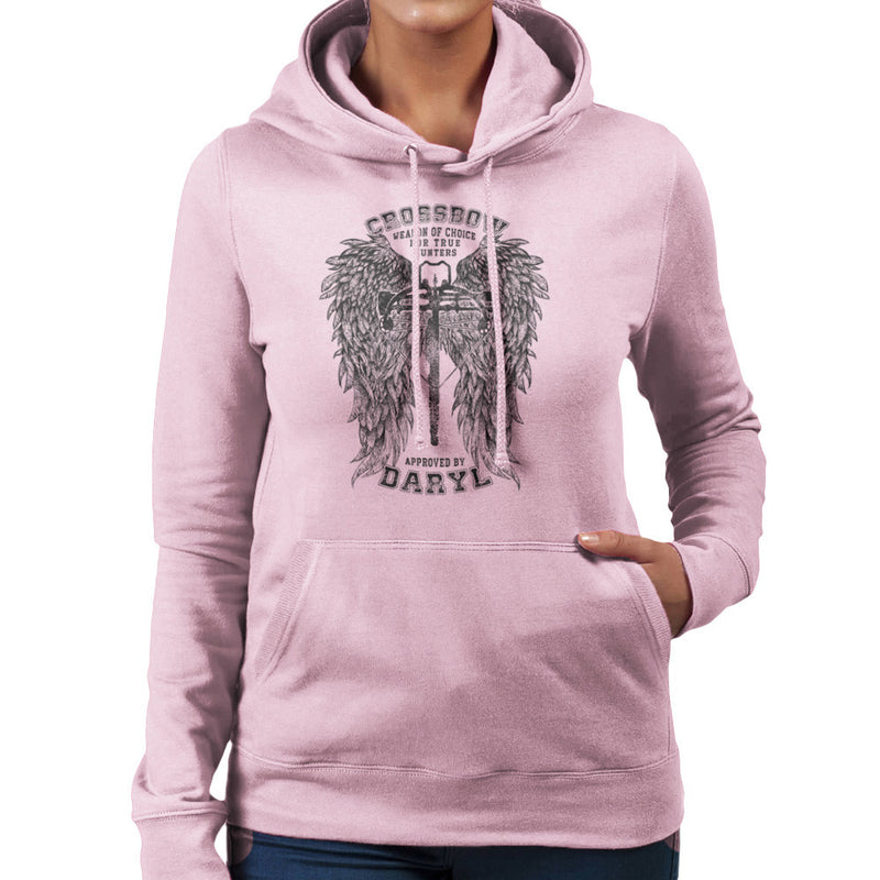 The Walking Dead Crossbow Approved by Daryl Women's Hooded Sweatshirt Women's Hooded Sweatshirt Cloud City 7 - 21