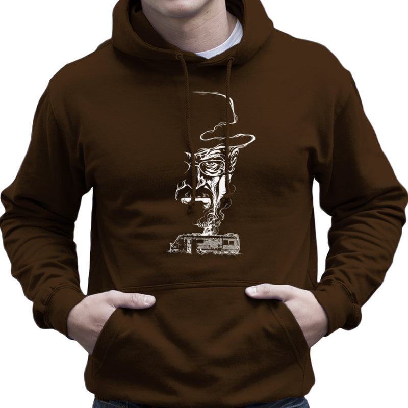 Breaking Bad Heisenberg Smoke Walter White Winnebago Men's Hooded Sweatshirt Men's Hooded Sweatshirt Cloud City 7 - 12