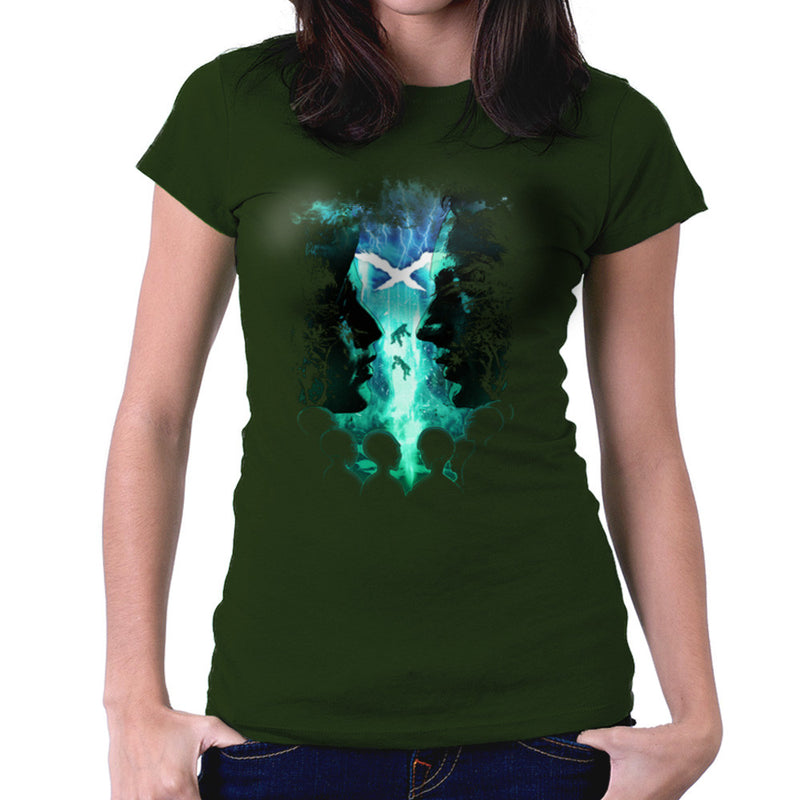 X Files Mulder Scully Skys the Limit Aliens Women's T-Shirt by RicoMambo - Cloud City 7