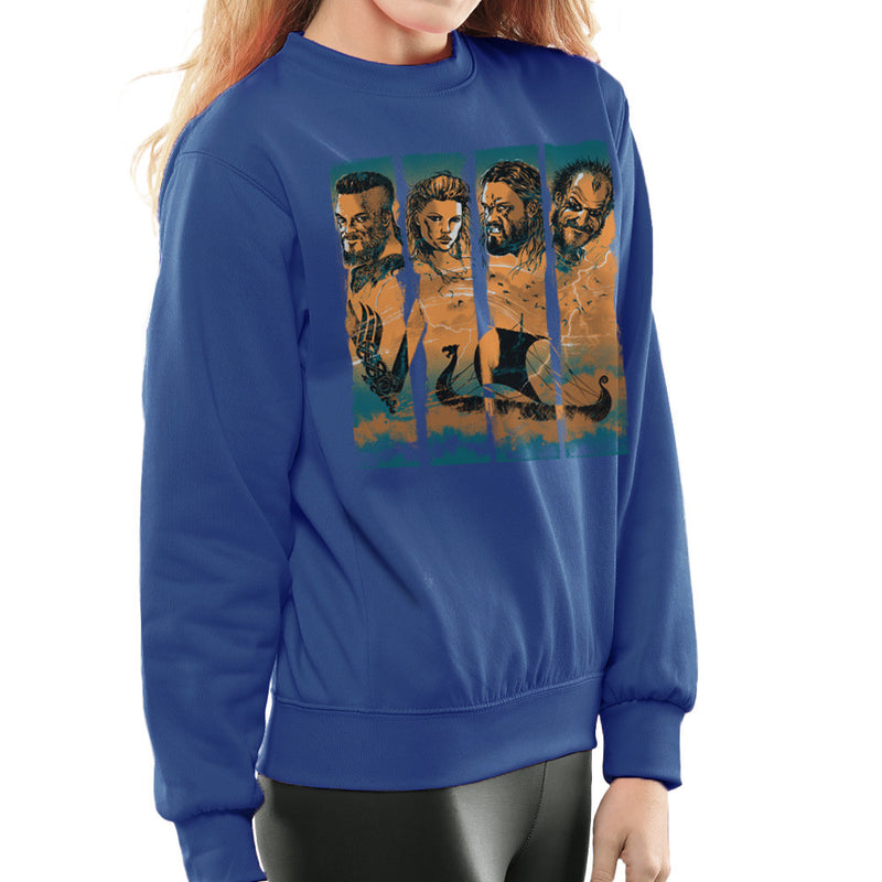 Vikings Ragnor Lothbrok Largertha Rollo Floki Women's Sweatshirt by RicoMambo - Cloud City 7