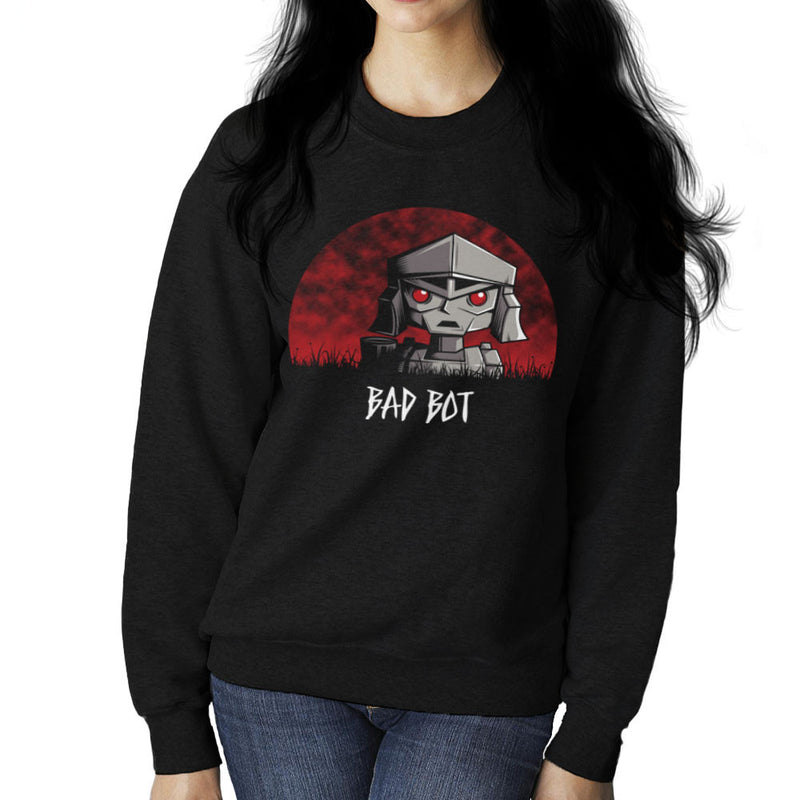 Bad Bot Transformers Megatron Women's Sweatshirt by Fanboy30 - Cloud City 7