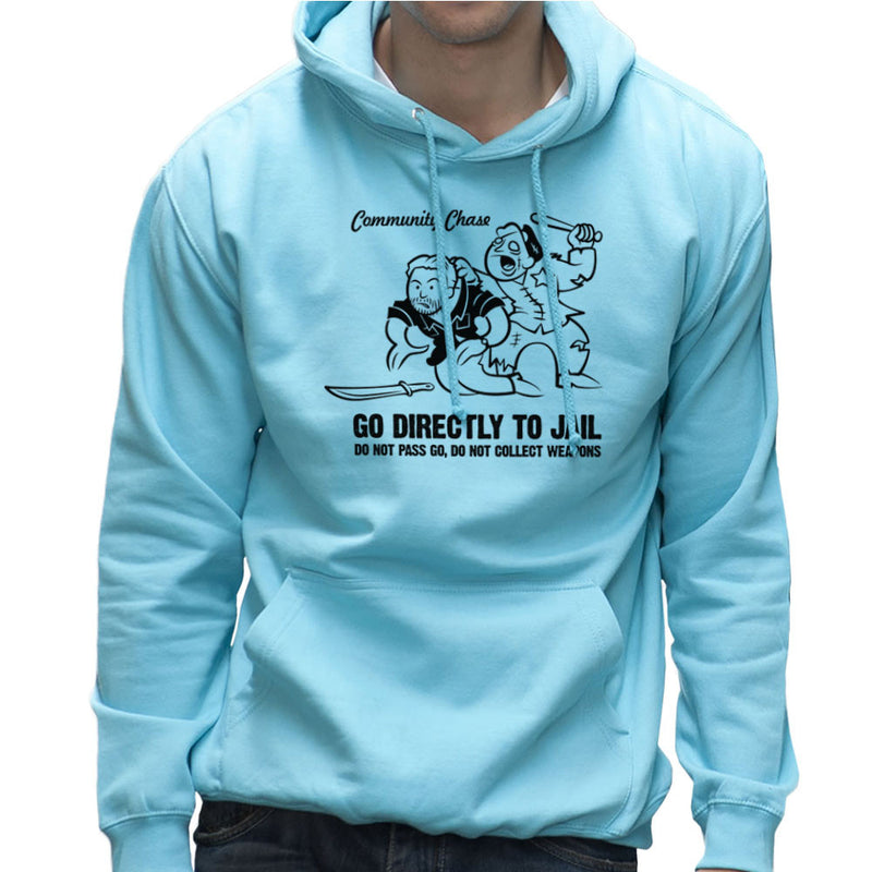 Community Chase Zombie Monopoly Men's Hooded Sweatshirt Men's Hooded Sweatshirt Cloud City 7 - 11