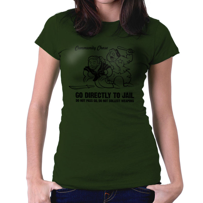 Community Chase Zombie Monopoly Women's T-Shirt by Fanboy30 - Cloud City 7