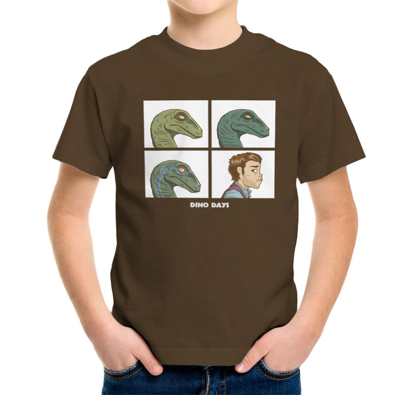 Dino Days Jurassic Park Gorillaz Kid's T-Shirt Kid's Boy's T-Shirt Cloud City 7 - 12