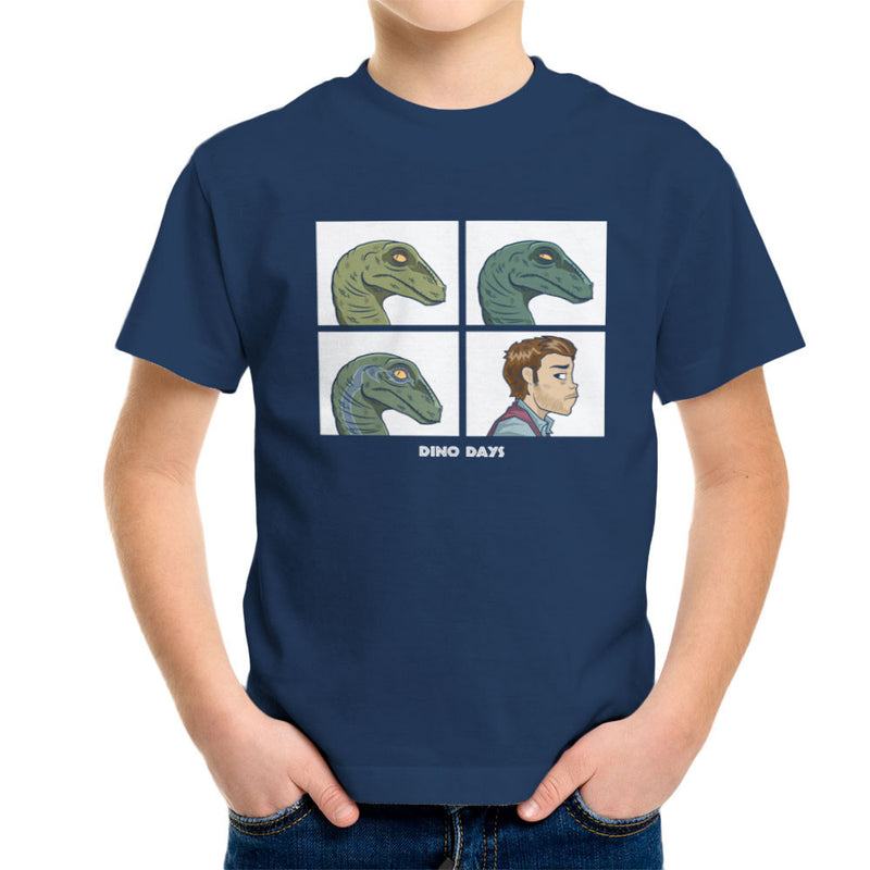 Dino Days Jurassic Park Gorillaz Kid's T-Shirt Kid's Boy's T-Shirt Cloud City 7 - 7