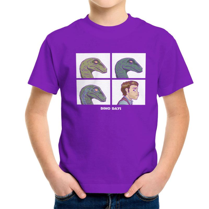 Dino Days Jurassic Park Gorillaz Kid's T-Shirt Kid's Boy's T-Shirt Cloud City 7 - 18