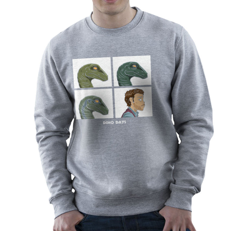 Dino Days Jurassic Park Gorillaz Men's Sweatshirt by Fanboy30 - Cloud City 7