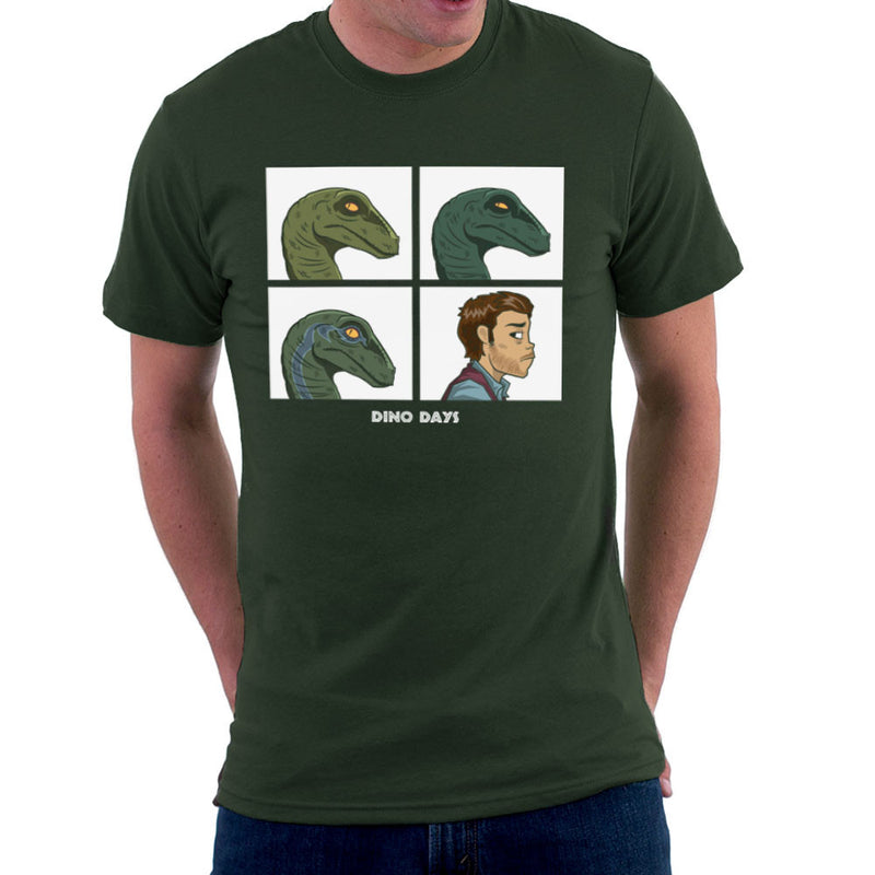 Dino Days Jurassic Park Gorillaz Men's T-Shirt by Fanboy30 - Cloud City 7