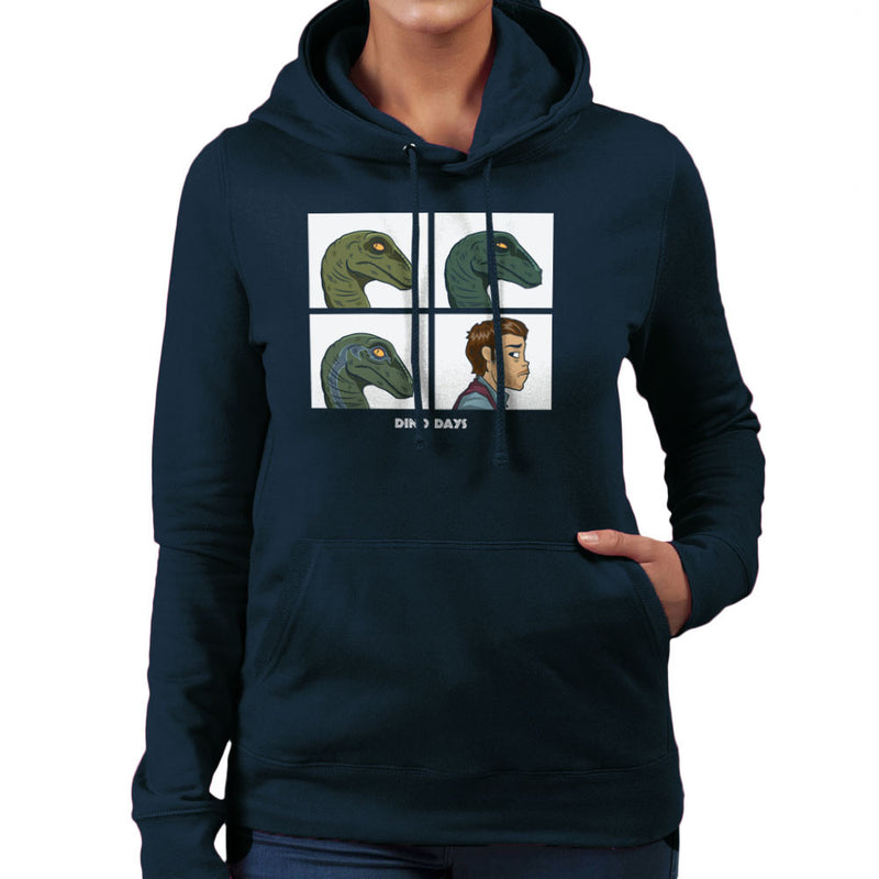 Dino Days Jurassic Park Gorillaz Women's Hooded Sweatshirt by Fanboy30 - Cloud City 7