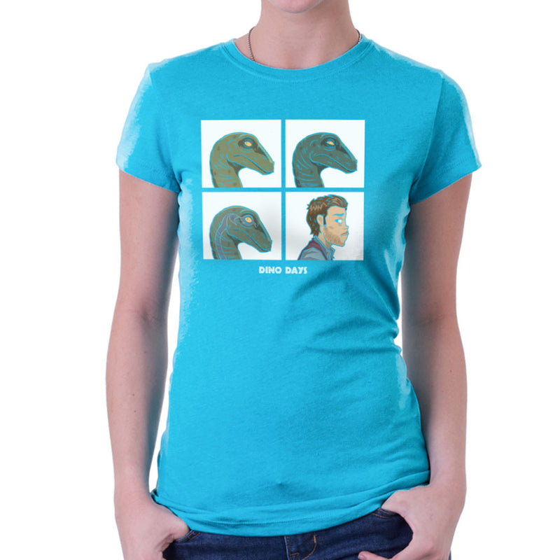 Dino Days Jurassic Park Gorillaz Women's T-Shirt by Fanboy30 - Cloud City 7