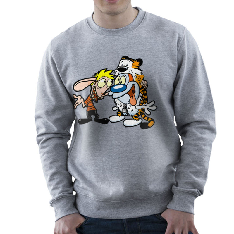 Ren and Stimpy Calvin and Hobbes Costumes Men's Sweatshirt by Bleee - Cloud City 7