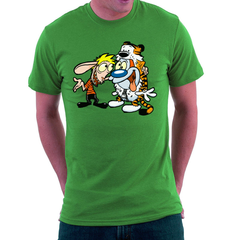 Ren and Stimpy Calvin and Hobbes Costumes Men's T-Shirt by Bleee - Cloud City 7