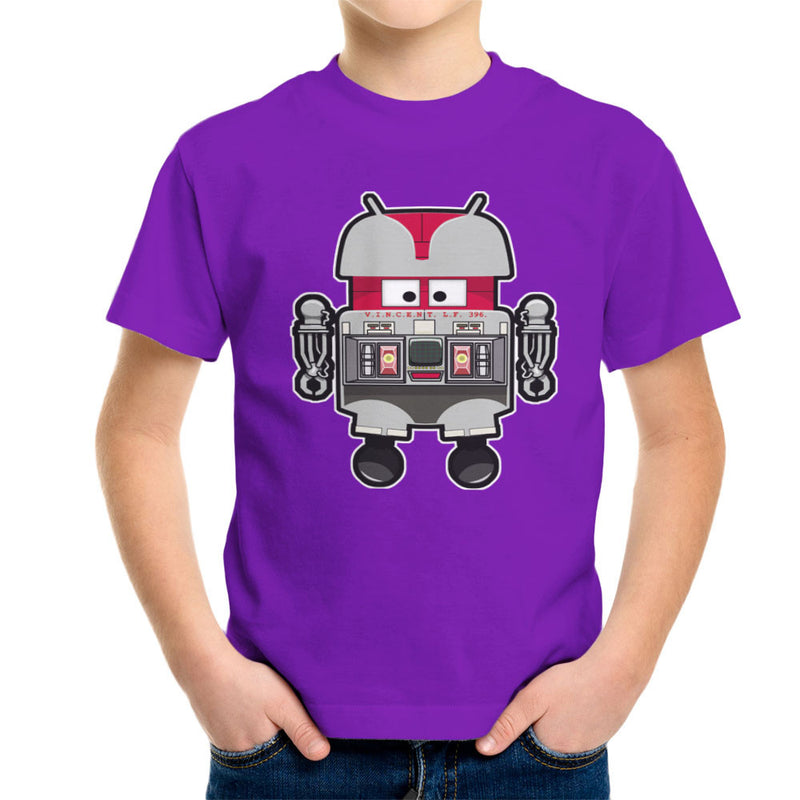 V.I.N.CENT L.F 396 Droid The Black Hole Android Kid's T-Shirt Kid's Boy's T-Shirt Cloud City 7 - 18