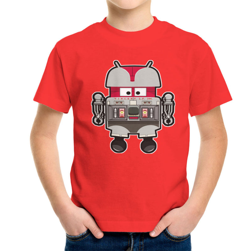 V.I.N.CENT L.F 396 Droid The Black Hole Android Kid's T-Shirt Kid's Boy's T-Shirt Cloud City 7 - 15