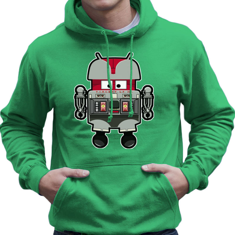 V.I.N.CENT L.F 396 Droid The Black Hole Android Men's Hooded Sweatshirt by Bleee - Cloud City 7