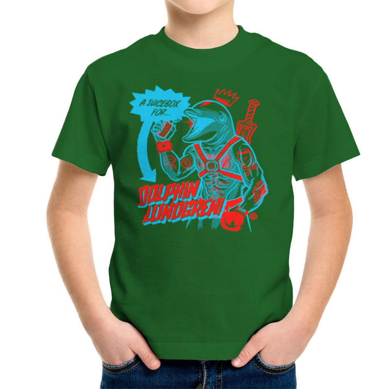 A Juice Box For Dolphin Lundgren Kid's T-Shirt by Gimetzco - Cloud City 7