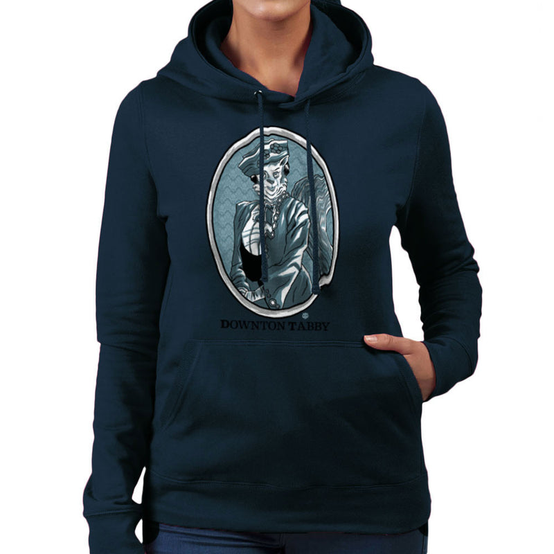 Downton Tabby Women's Hooded Sweatshirt by Gimetzco - Cloud City 7